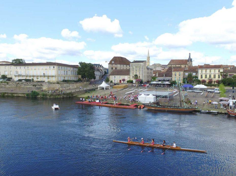 Regates aviron du 14 juillet à Bergerac